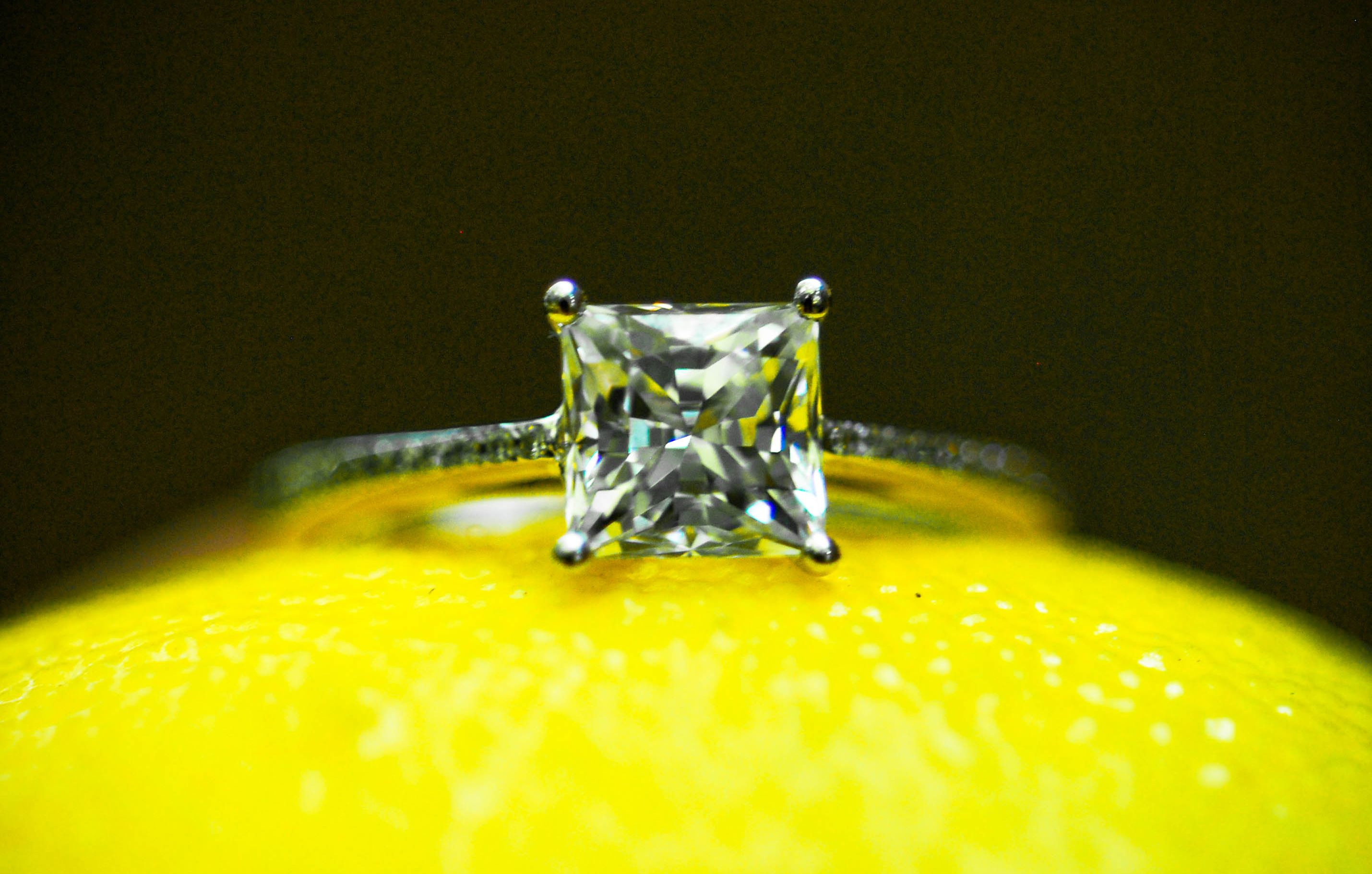 A perfectly delicate princess cut engagement ring by Bridget Durnell www.karatsburgh.com
