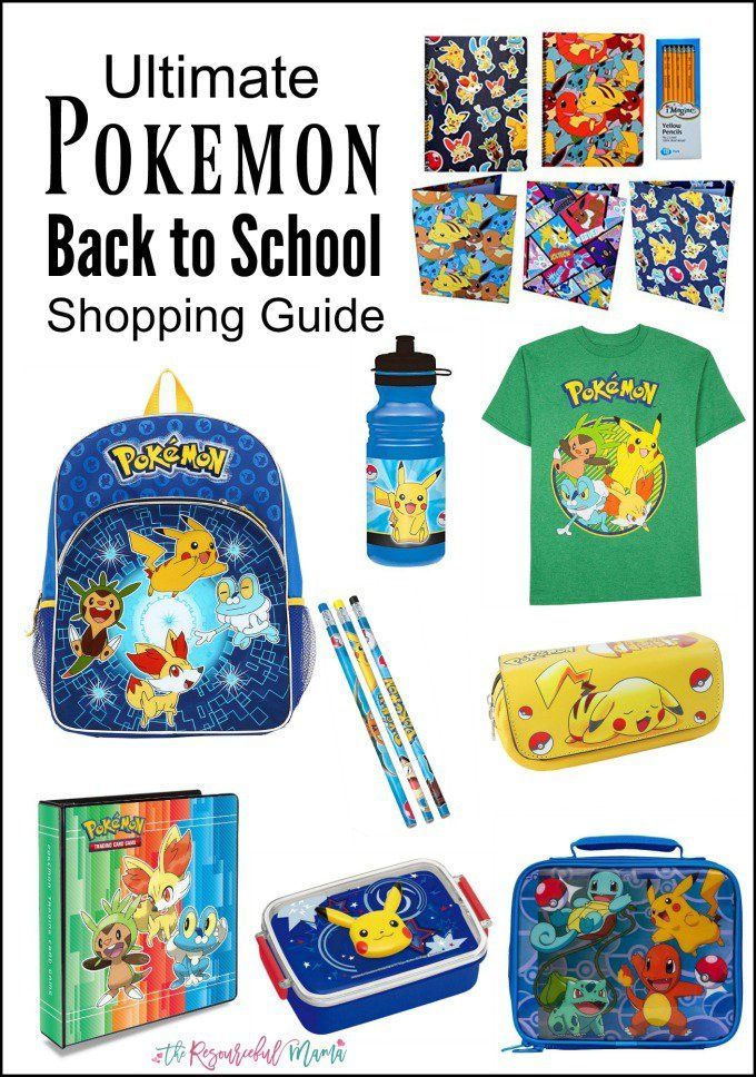 Your Pokemon fan will love going back to school with this Pokemon themed school  supplies from backpacks to shirts to pencils and more. 197c2046523dc