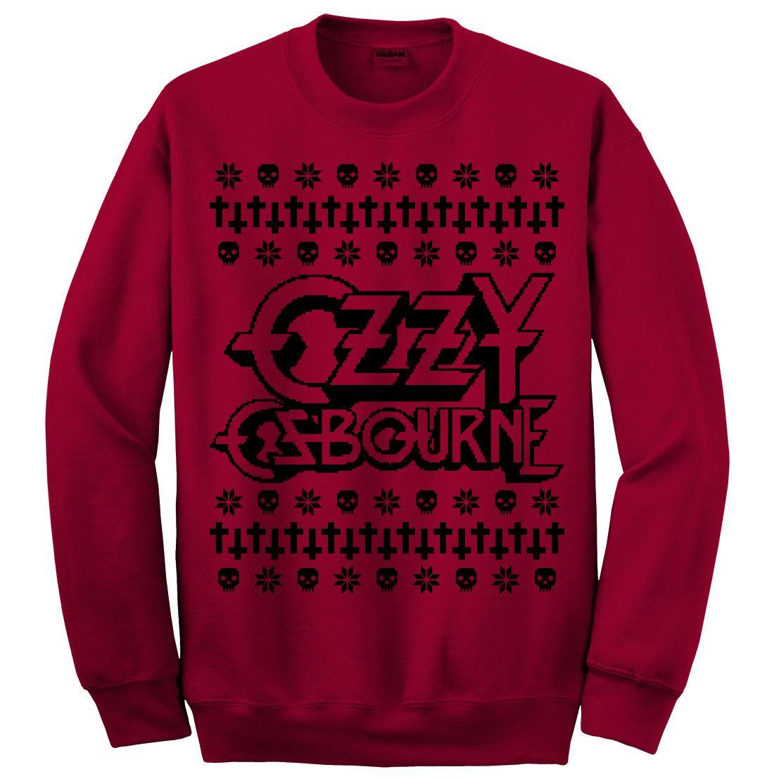 Ozzy Blood Red Christmas Sweatshirt – Ozzy Osbourne Shop | Clothes ...