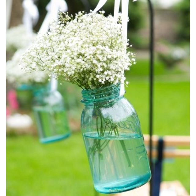 baby's breath is crazy cheap! This would be great, maybe add some pink and make it a centerpiece