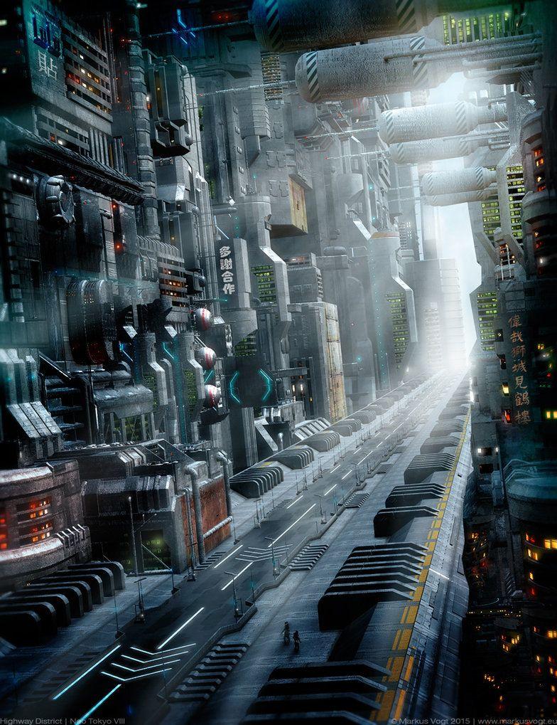 Highway District Neo Tokyo Viii By Markusvogt Art In