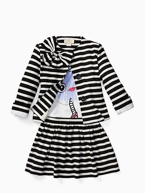 1f5eadd3ffe9 Designer Kids & Baby Clothing On Sale. Kate Spade Toddlers' Coreen Skirt,  Black/Cream Stripe - Size 4