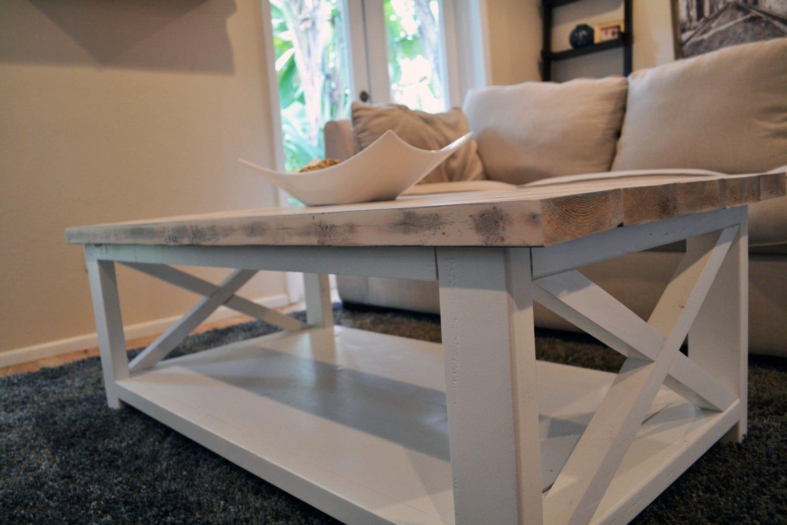 Custom rustic farmhouse coffee table coffee table