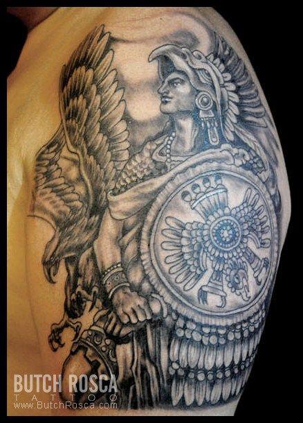 Mexican Style Tattoos Aztec Warrior Tattoo Warrior Tattoos Aztec Tattoo