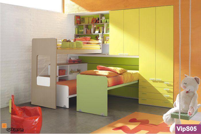 camerette per tre letti | camerette | Pinterest