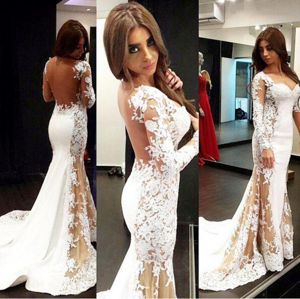Long Sleeve Prom Dresses Red Carpet Glamour