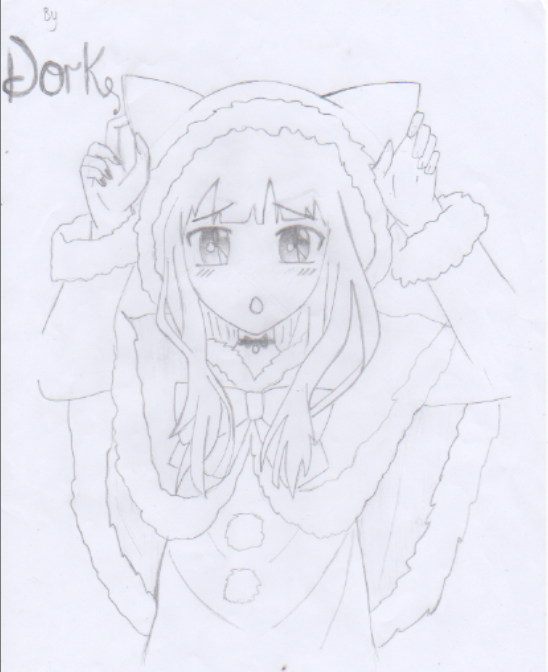 Neko Anime Christmas Girl Drawing By Me O Anime Christmas Art Contest Girl Drawing
