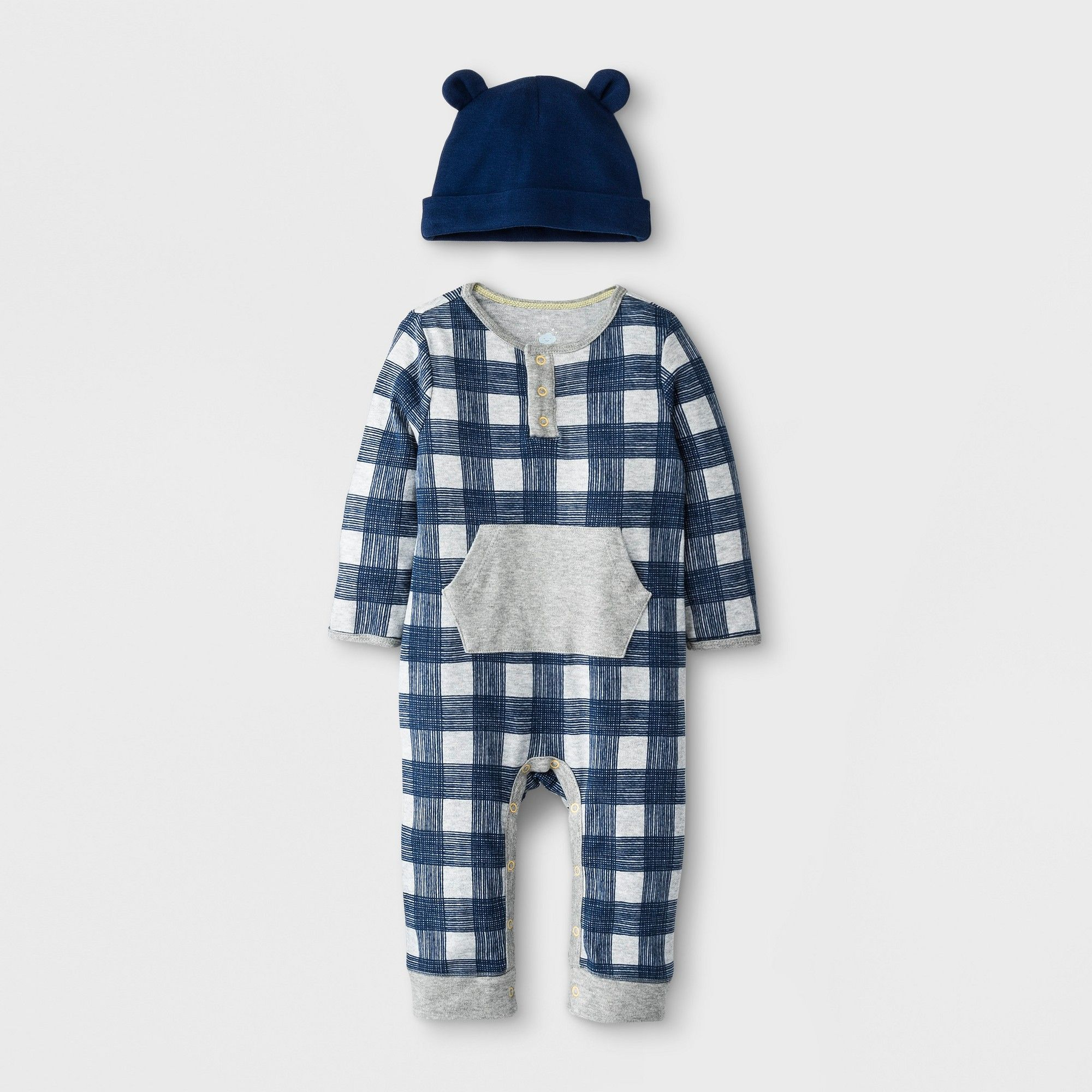 Cloud Island 2PC Baby Boy Romper Set