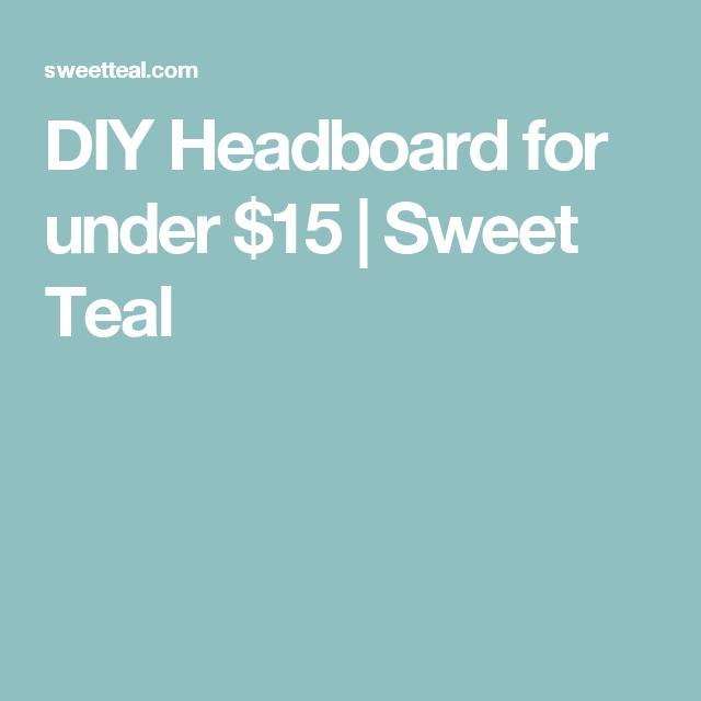 Cheap Loft Apartments: DIY Headboard For Under $15