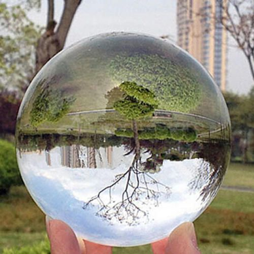 Stand 100mm Clear Glass Crystal Healing Ball Photography Lens Ball Collectible