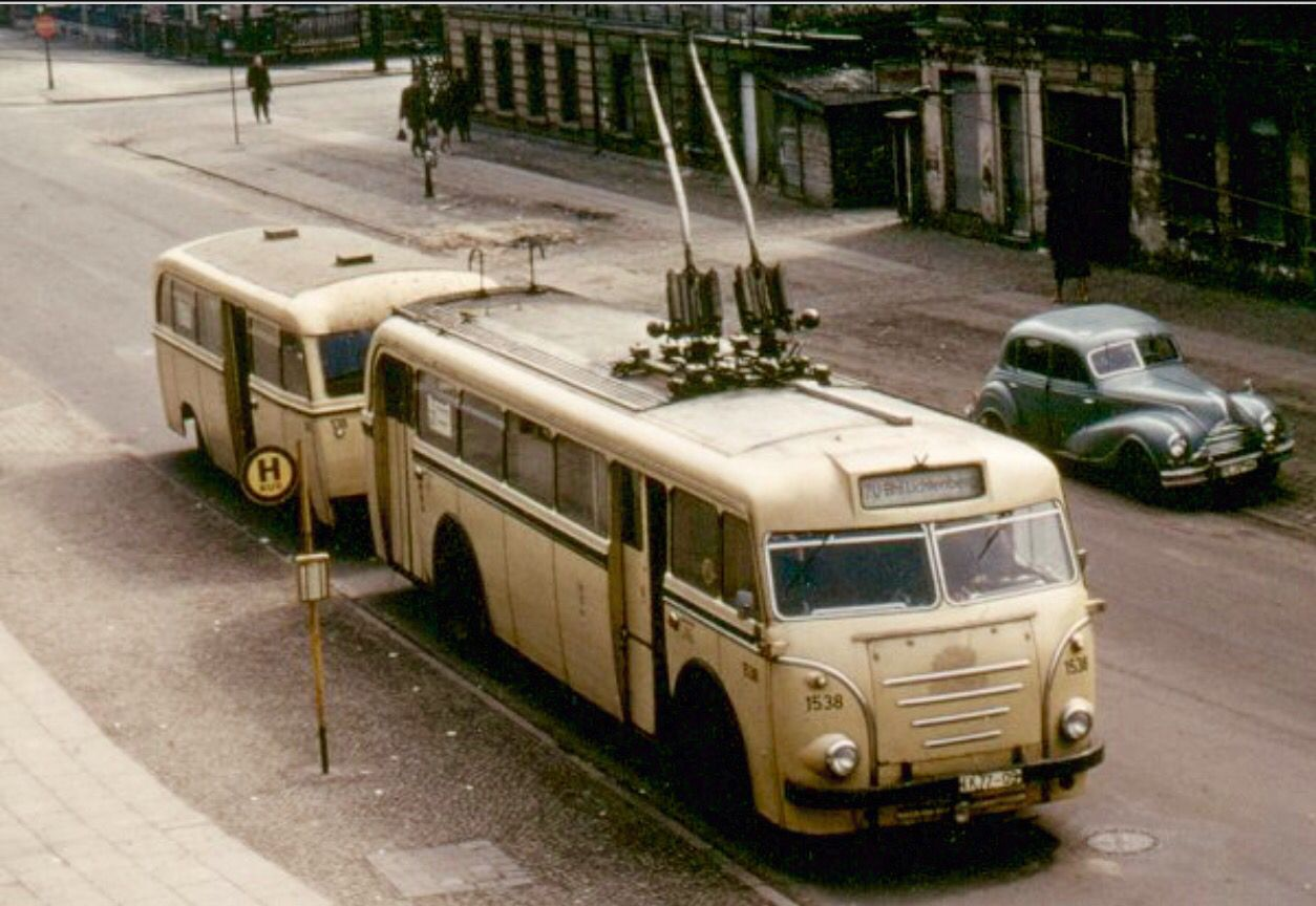 Trolleybus Berlin 21 Obus Linie 21 Richtung Bahnhof ...