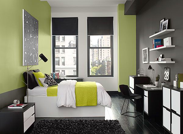 Colour A Room Benjamin Moore Bedroom Green Bedroom Colors Accent Wall Bedroom