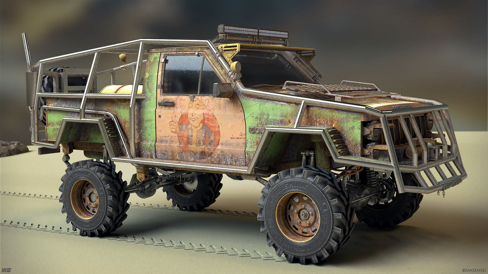 My Personal Project Jeep Cherokee 1996 In Post Apocalyptic Style