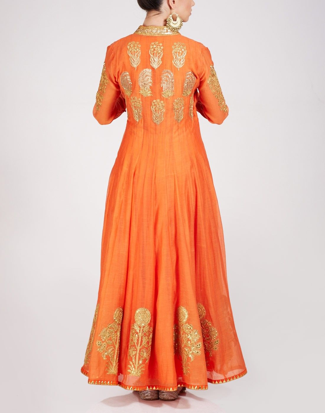 Ogaan Fashion Blogs Latest Indian Fashion Trends For 2017: Buy Orange Jacket Kurta Available At Ogaan Online Shop