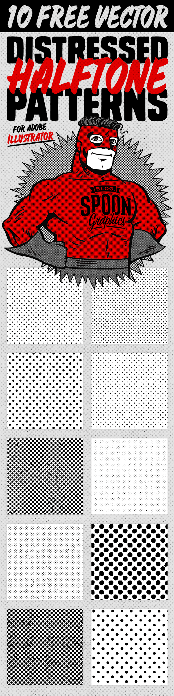 10 Distressed Vector Halftone Patterns for Illustrator | Adobe ...