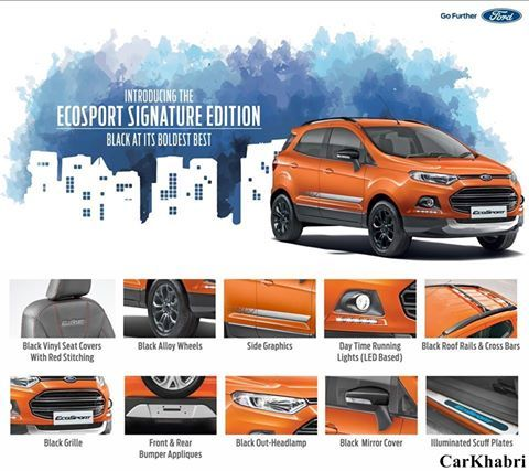 Ford India Launches Ford Ecosport Signature Edition Click Here To Read Complete Story Http Bit Ly 2dcwsik Ecosport Ecosport Roof Rails Upcoming Cars