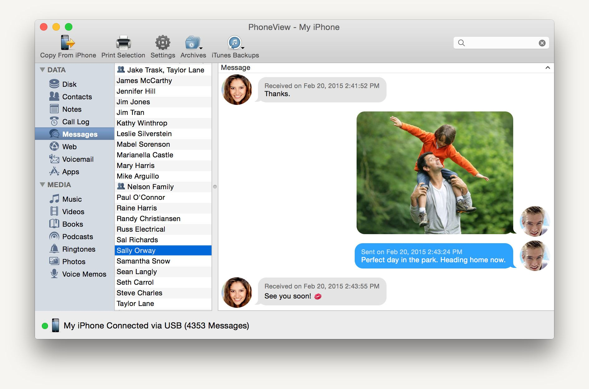 PhoneView for Mac Save the data you love Iphone, Messages
