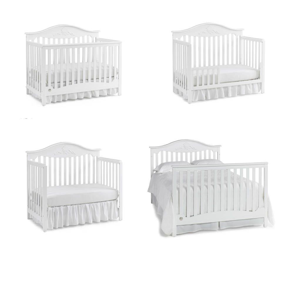 Mia 4 In 1 Convertible Crib Cribs Convertible Crib White Crib Nursery 4 in 1 convertible cribs