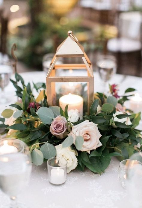 37 Romantic Greenery Wedding Centerpieces for 2020 - WeddingInclude