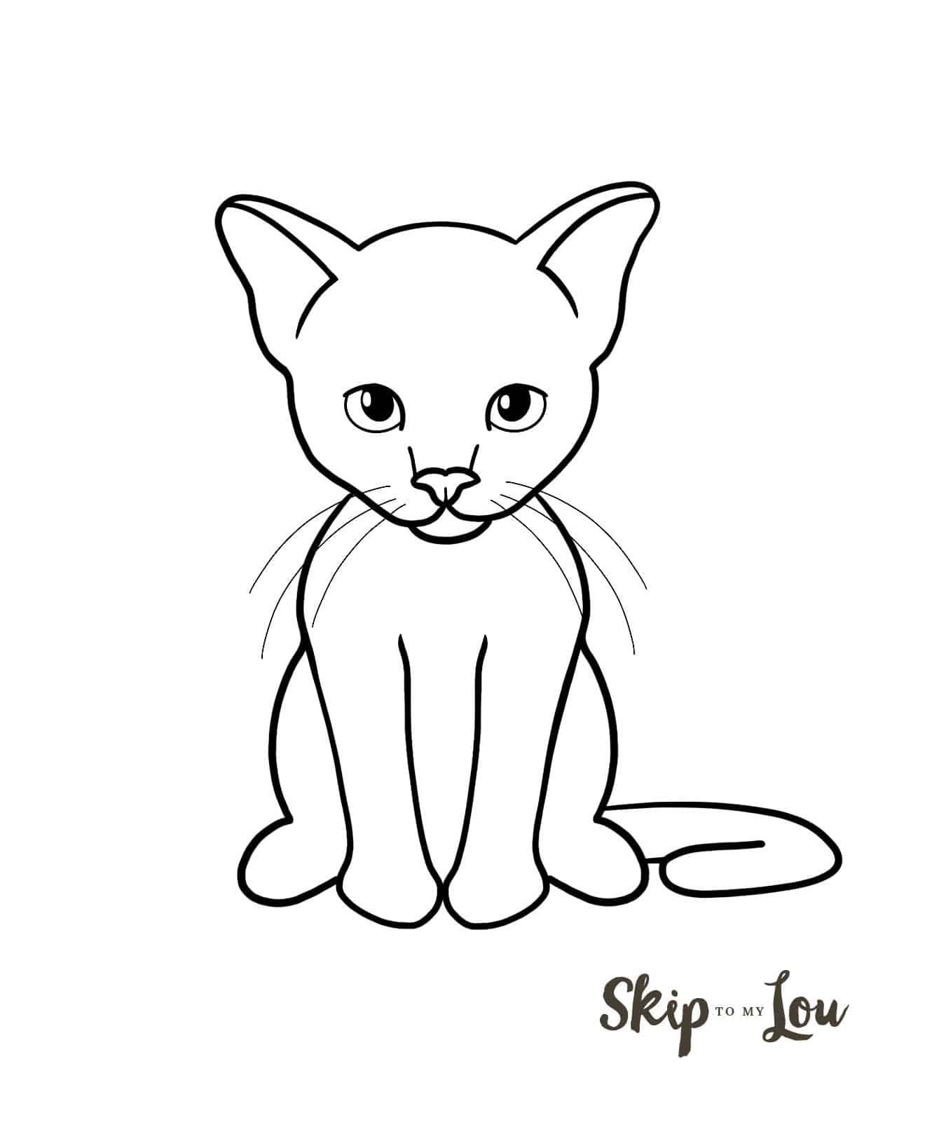 How To Draw A Cat Simple Cat Drawing Cat Drawing Drawings