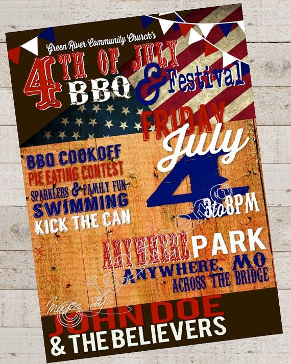 Independence Day Flyer Independence Day Party Flyer Independence