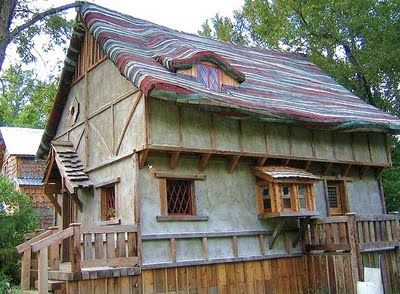 Dan Phillips Is An Artist In Huntsville And Builds His Houses Using  Recycled Materials! This Is The Storybook House .