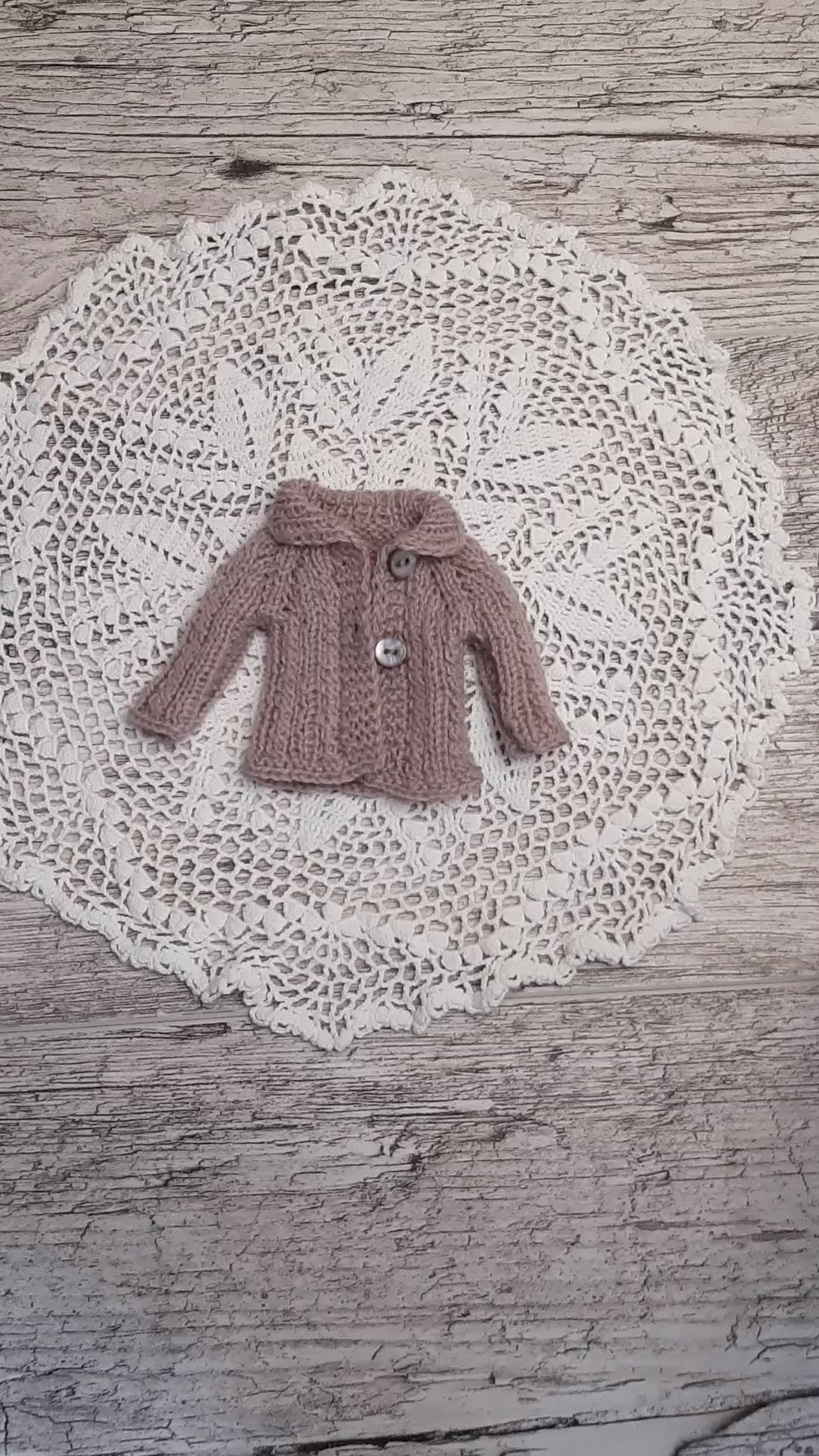 Photo of Blythe jacket Pullip jacket. knitted jacket for dolls, clothes for dolls knitted jacket