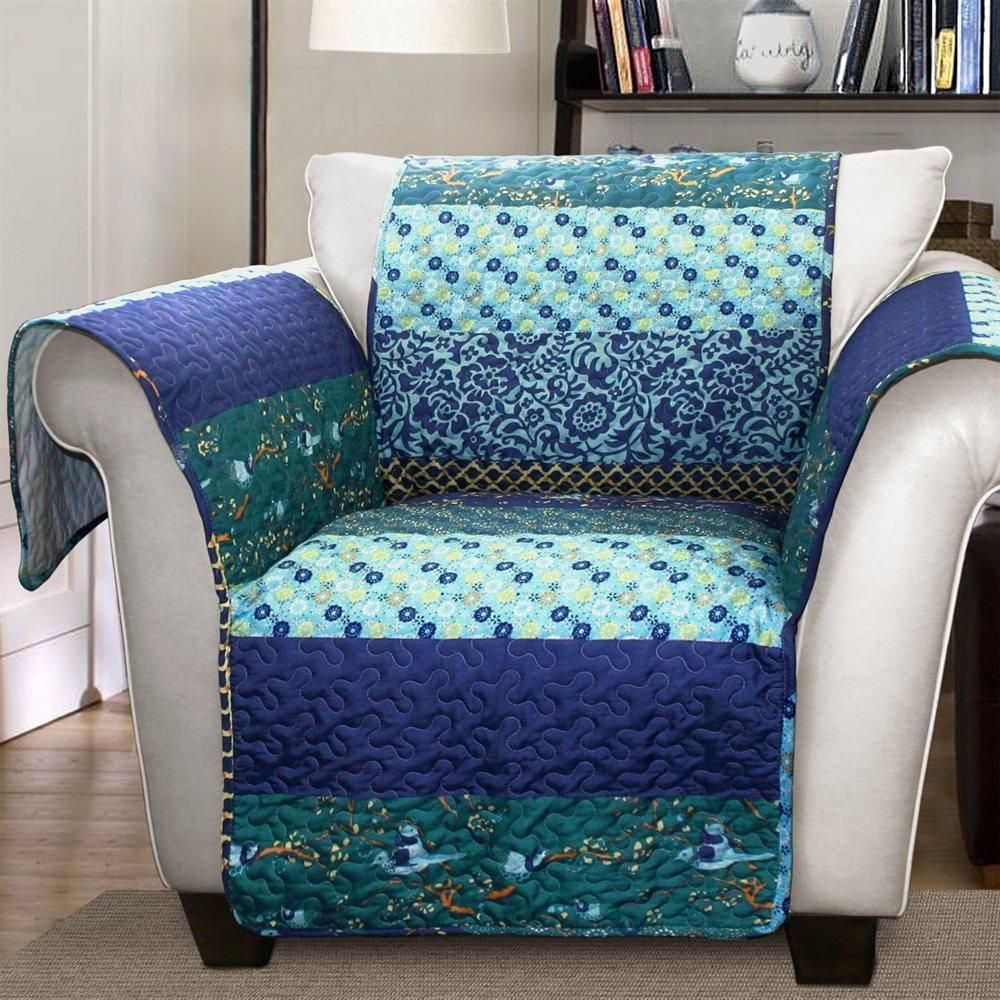 teal recliner chair covers