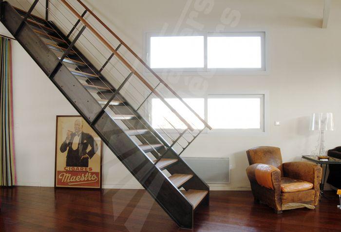 Escalier droit escaliers d cors proyectos que intentar pinterest pho - Escalier industriel droit ...