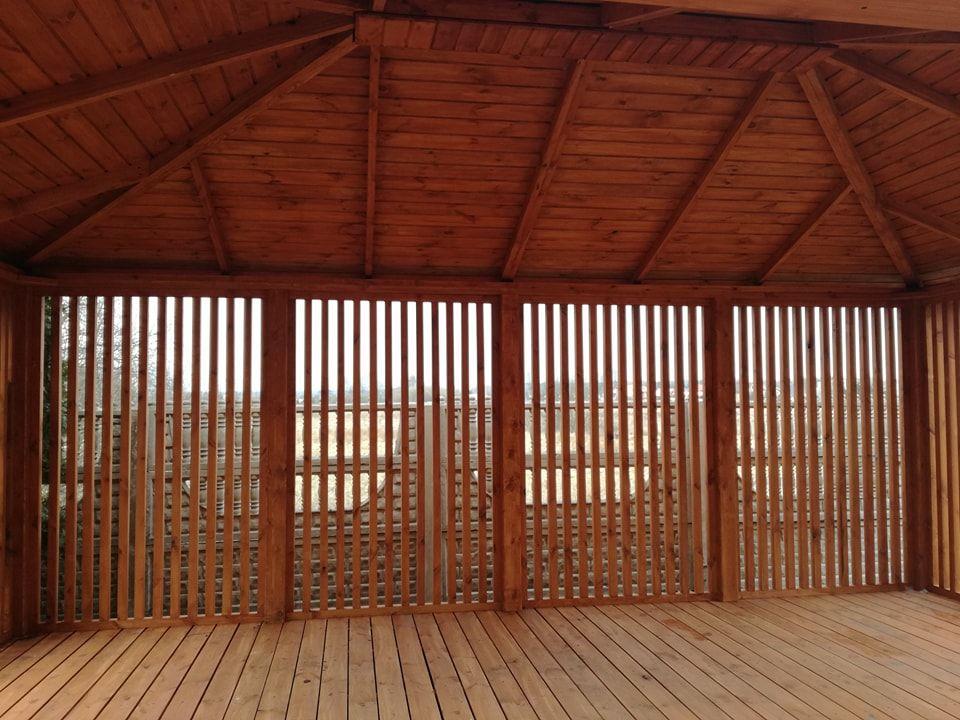 Drewniana Altana Ogrodowa Pawilon 6x4m Wiata Sosna