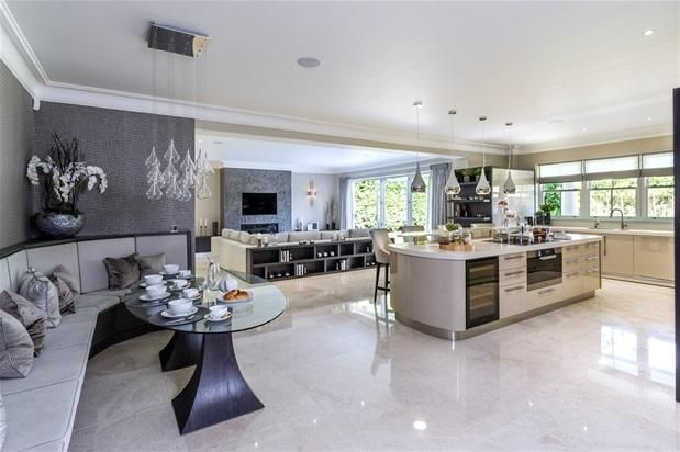 Large Open Plan Living Dining Open Plan Kitchen Living