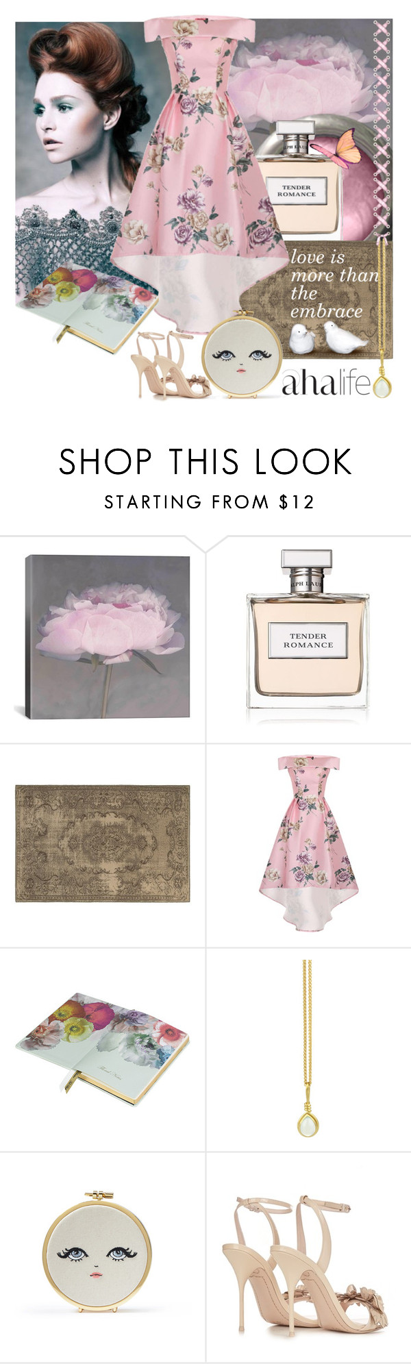 """Sometimes life is so busy, we forget the world around us"" by linda-caricofe ❤ liked on Polyvore featuring iCanvas, Ralph Lauren, Oriental Weavers, Chi Chi, Ted Baker, Prism Design and Sophia Webster"