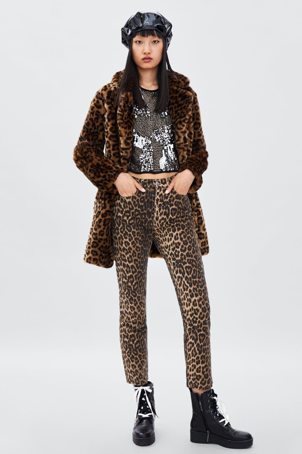 2cd46092c Image 1 of LEOPARD PRINT JEANS from Zara | Spring / Summer 2018 in ...