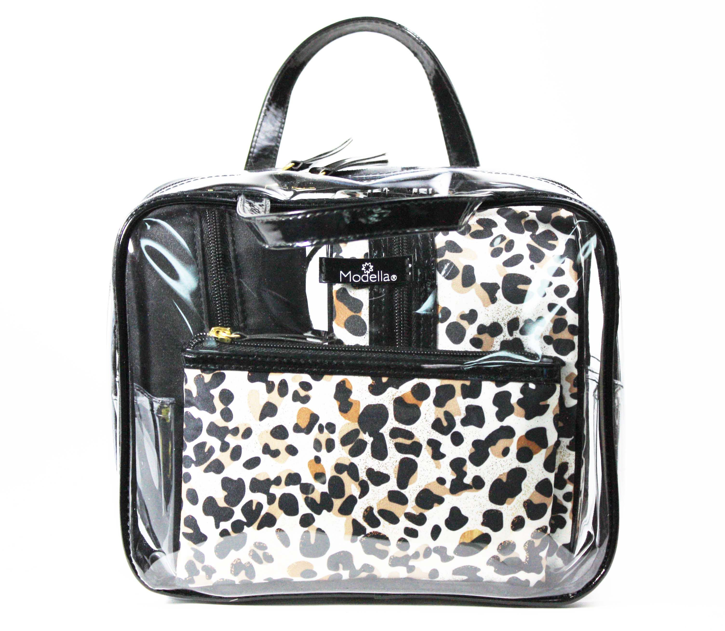 35524d0979 This Modella set features two leapord print bags