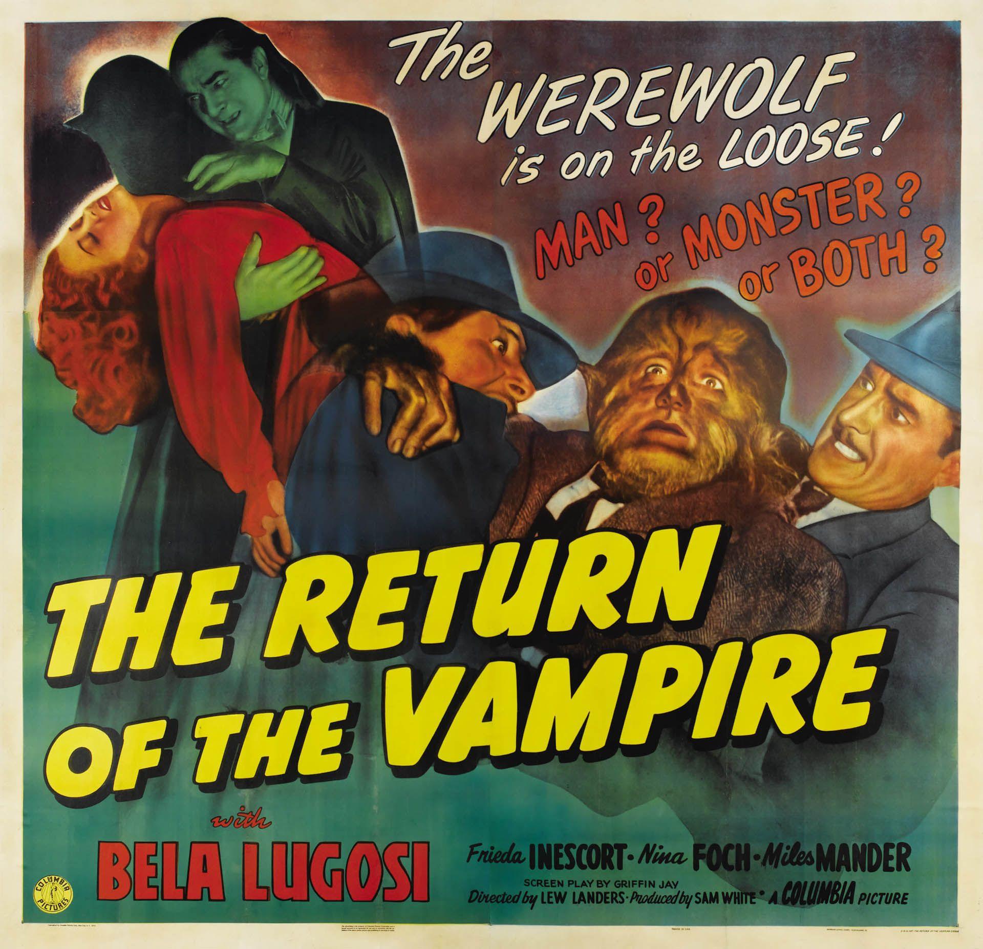 The Return Of The Vampire 1944 Vintage 1940s Movie Posters Wallpaper Image Film Posters Vintage Vampire Movies Movie Posters