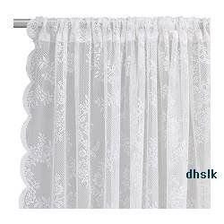 ikea alvine spets white lace curtains