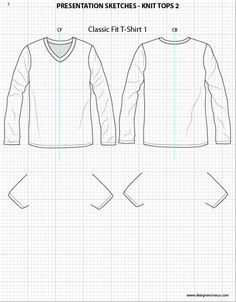 f157bd0e mens sports tee shirt CAD technical drawing - Google Search | 轮廓 ...