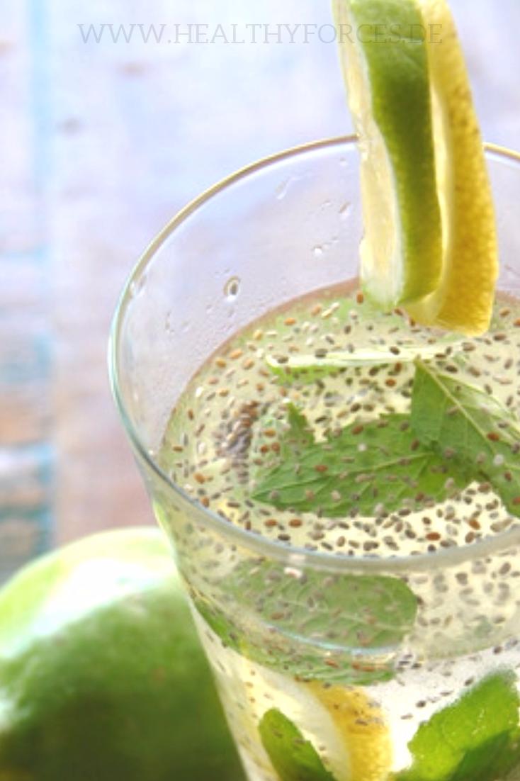 Chia Wasser mit Zitrone: Rezept