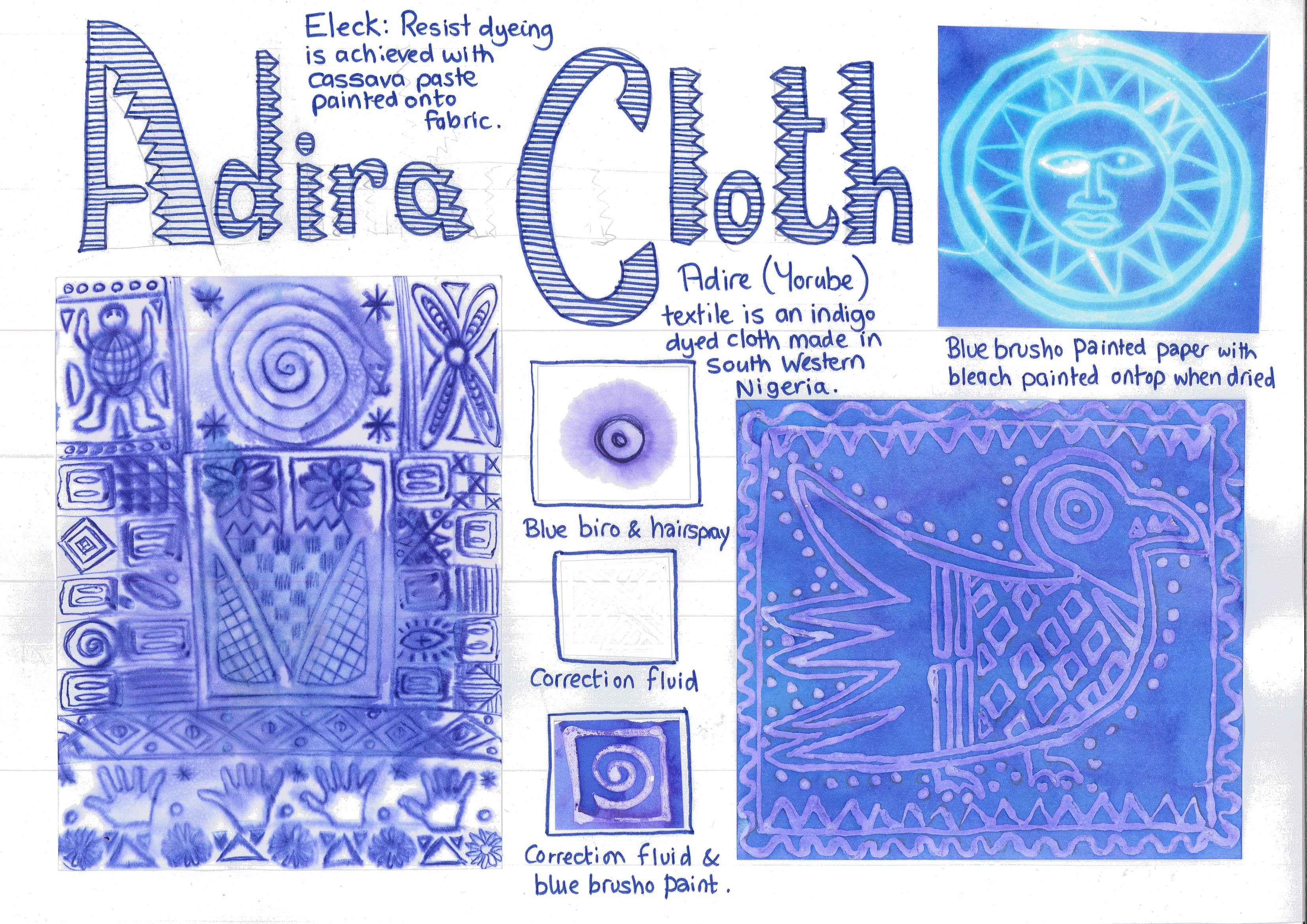Adire Cloth Worksheet