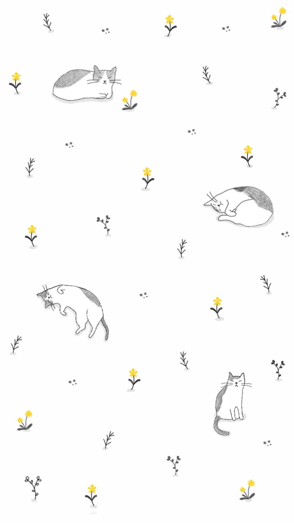 Pin By Manatsanan Thongma On Wallphone Cat Wallpaper Homescreen Wallpaper Cute Wallpaper Backgrounds