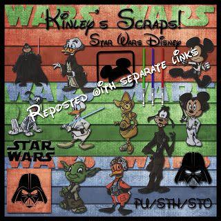 Disney Star Wars digital scrapbook kit.  Free.  Kinley's Scraps: May 2011