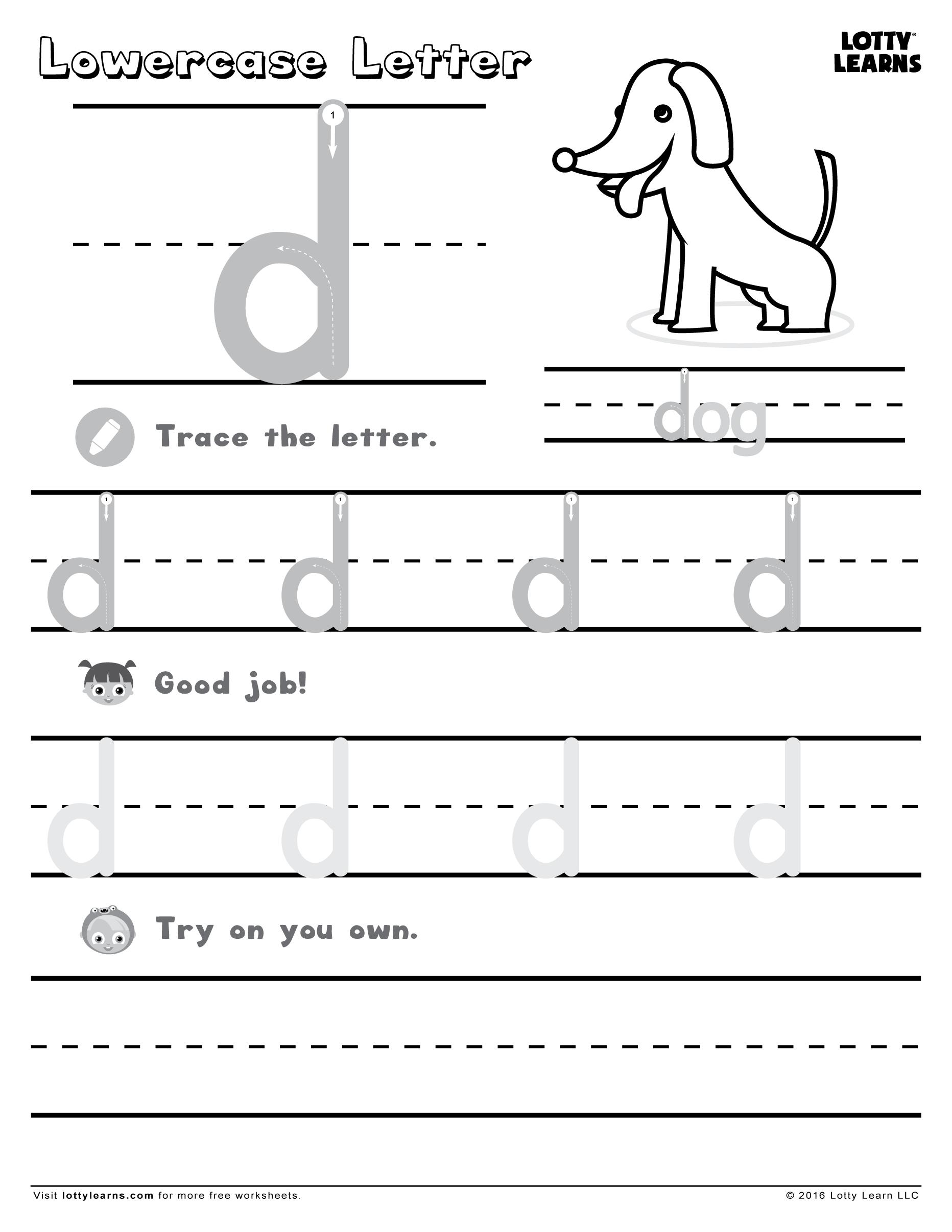 Lowercase Letter D