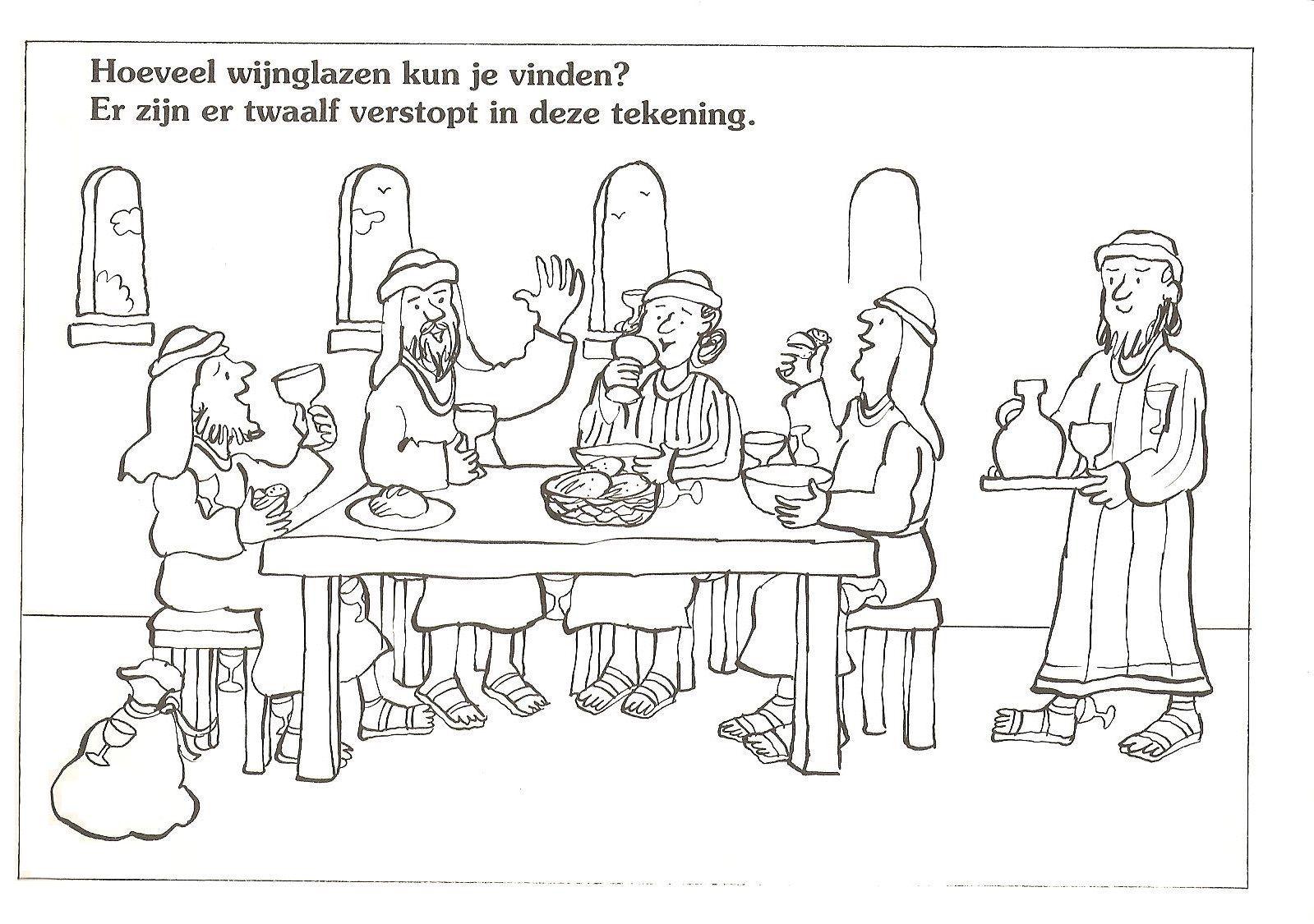 Hoeveel Wijnglazen Kun Je Vinden Er Zijn Er 12 Verstopt In Deze Tekening Kinderdienst Voor Kinderen Bijbel