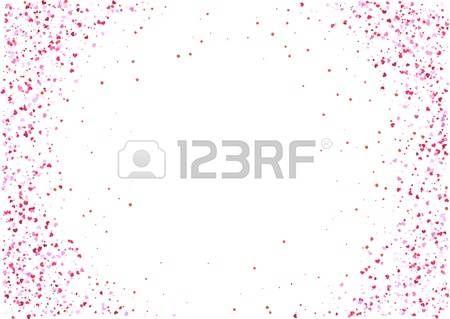 Fond Abstrait Avec Rose Volant Des Confettis En Forme De Coeur Rouge Vector Illustration Isole Sur Fond Blanc Blank Modele De Vacances Saint Valentin Formes De Coeur Coeurs Rouges Abstrait