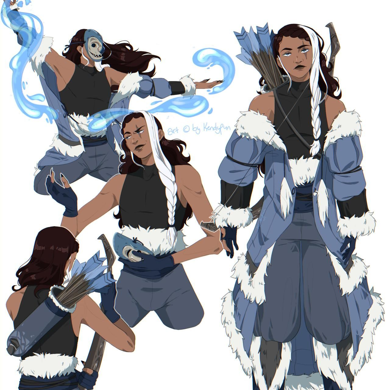 Cms custom outfit character sheet atla oc by kendypun