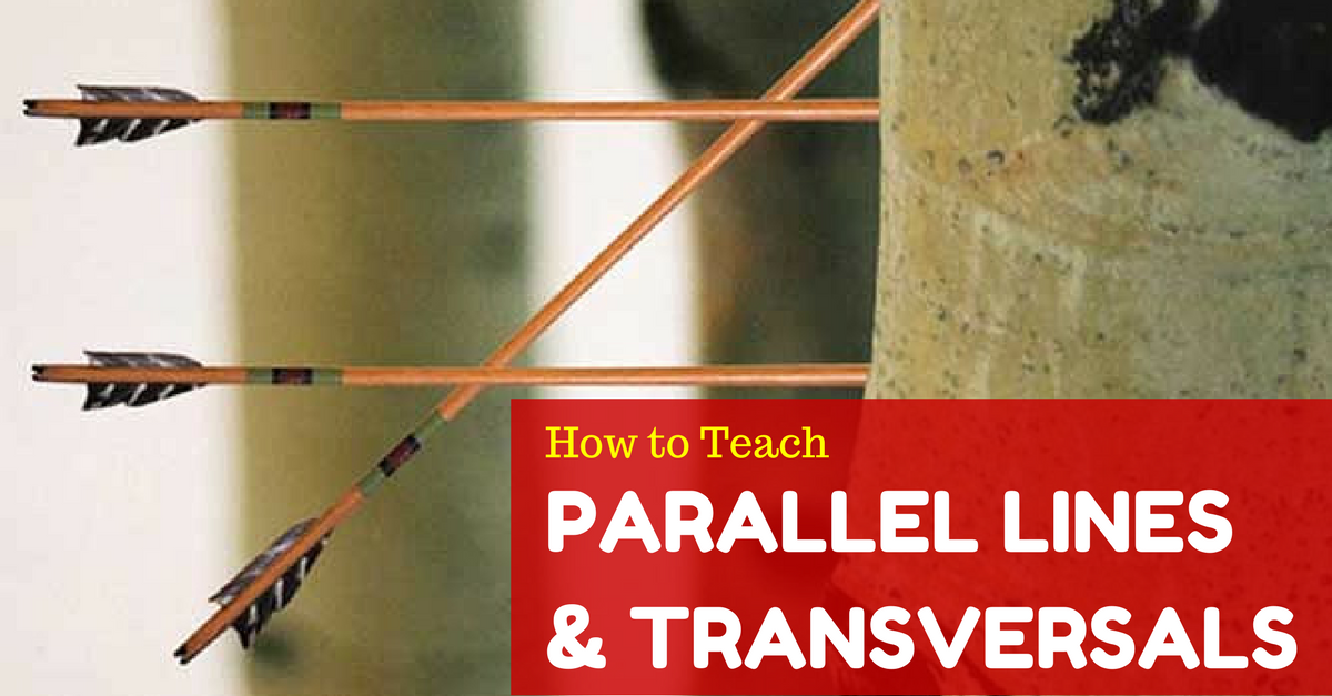 Parallel Lines and Transversals Geometry vocabulary
