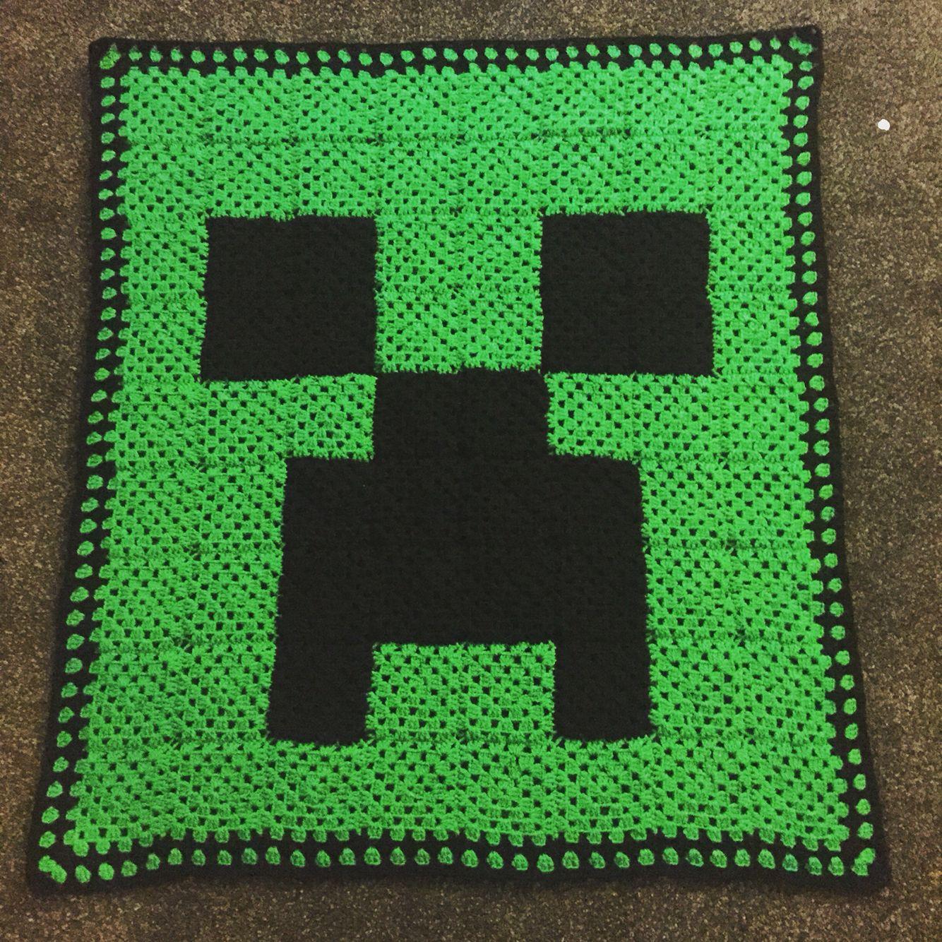 Granny Squares Minecraft Creeper Blanket Crochet Sewing Pinte Tm Diagram Ideas And Tips Juxtapost More