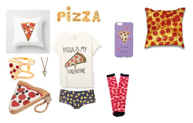 """Pizza! Pizza!"" by sara1-862 on Polyvore featuring interior, interiors, interior design, home, home decor, interior decorating, ASOS, Lazy Oaf, Topshop and Pyknic"
