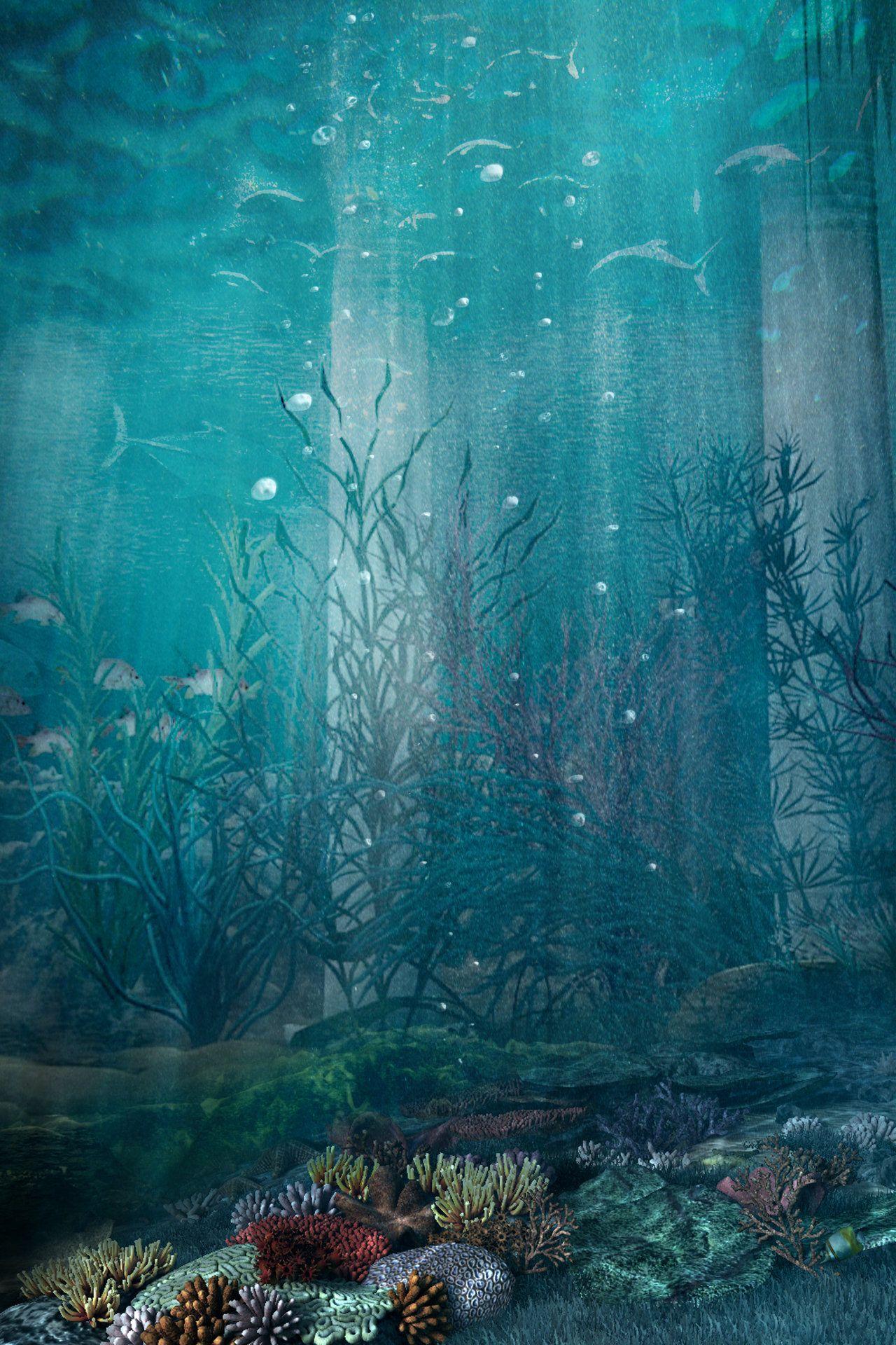 Premade Bg Under The Sea 1 By Georgina Gibson Deviantart Com On Deviantart Ocean Photography Under The Sea Background Underwater Painting