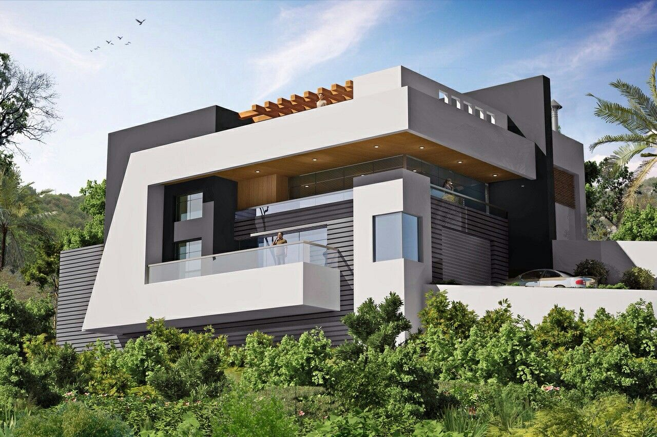 Modern villa south lebanon resedential pinterest for Modern house villa design